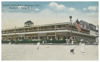 Far Rockaway Ny Atlas Hotel C 1915 Beach