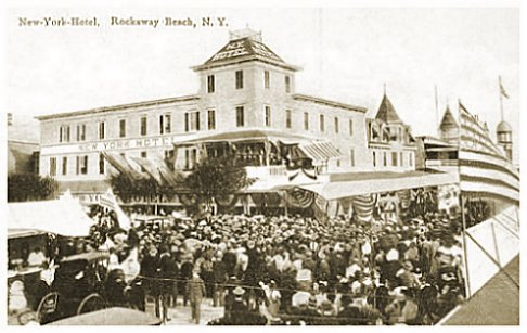 New York Hotel C 1920 Rockaway Beach Ny
